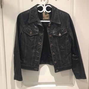 vintage leather Aldo medium jacket